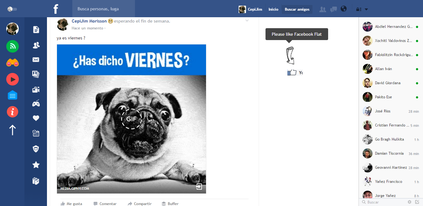Flatbook rediseña tu facebook con esta extension de Chrome
